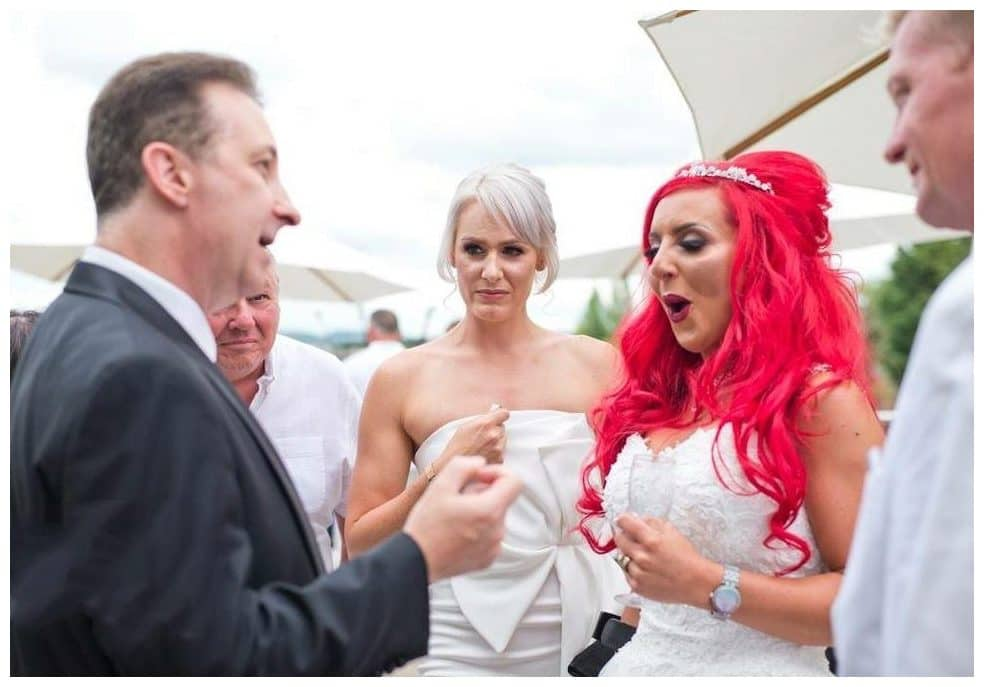 Manchester wedding magician Andy Field performs enthralling magic for Bride and Groom