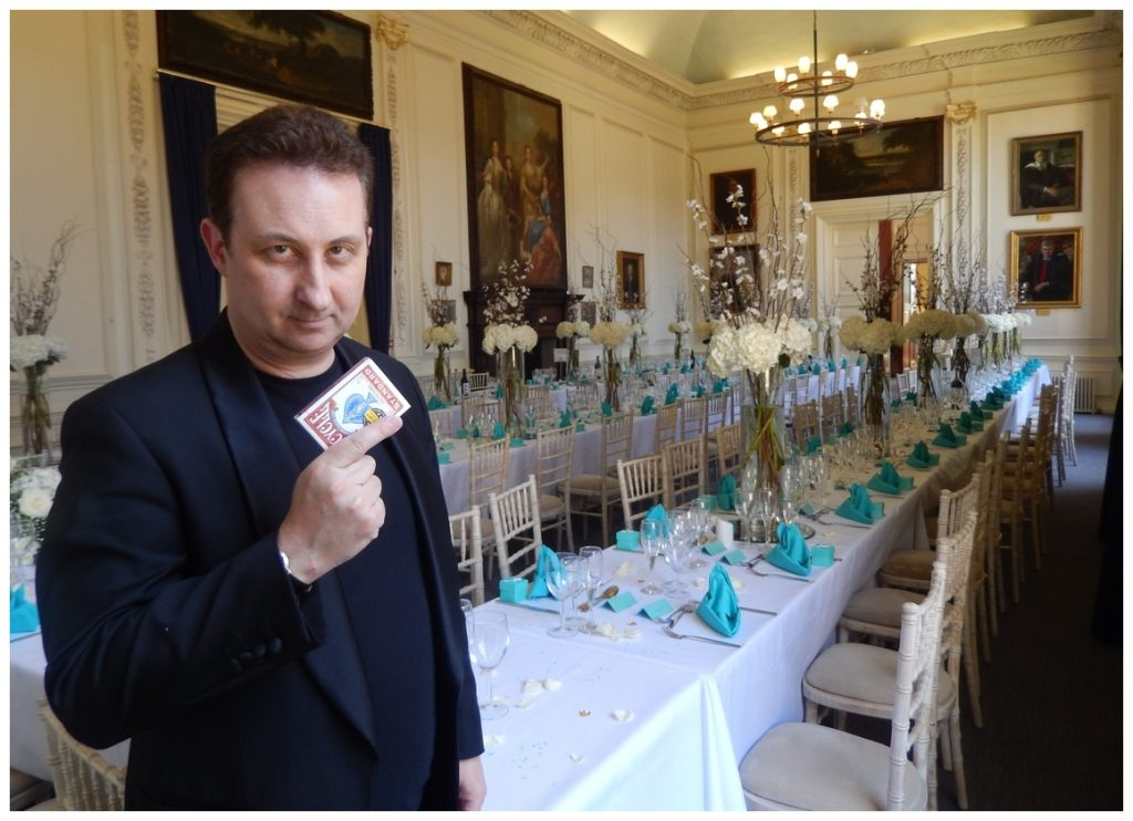 Folkestone Ttable top magic to break the ice at your wedding.